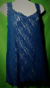 NEW HANKY PANKY 1390LX MDNT CLASSIC SIGNATURE MADE IN USA LACE CAMISOLE 3X