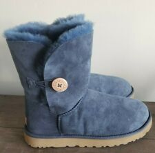 UGG Australia Women's Bailey Button II Navy Blue Suede Boots 1016226 size 11 NEW