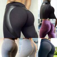 Womens Sports Yoga Pants Push Up Leggings Pockets High Waist Gym Running Stretch