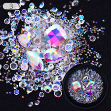 Nail Art 3D Tips Mixed Bead Decoration Box Rhinestones Glitter Rose Gold Studs