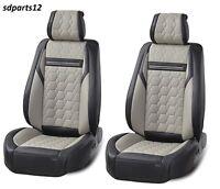 Housse de Siège Voiture En Cuir PU gris-noir pour VW Golf Polo Passat Tiguan
