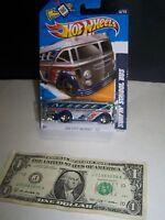Hot Wheels - Silver/Flames - Surfin School Bus - HW City Works #5 - 2009
