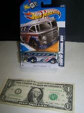 Hot Wheels - Silver/Flames - Surfin School Bus - HW City Works #5 - 2009