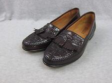 Men's Florsheim Tassel and Kilt Weave Leather Loafers 13 D made in Brazil 87941