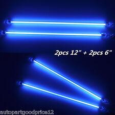 "2x6""+2x12"" Blue LED Car Undercar Underbody Neon Light CCFL Cold Cathode Tube Kit"