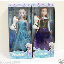 New 2pcs 30CM Disney Frozen Elsa&Anna princess Christmas Playset Figures Doll