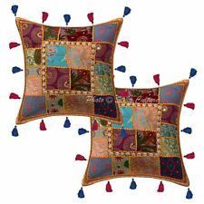 Patchwork Kodi Tassels Cotton Pillow Cases Traditional Ethnic Cushion Cover 16""