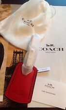 NWT COACH True Red Leather Business Travel Luggage Airline Tag