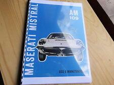 Owners manual Maserati Mistral AM 109 manuale di istruzioni uso manutenzione