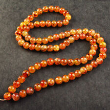 1Strand 10mm Jacinth Fire Agate Round Loose Bead 15.5 inch YJ308TZ
