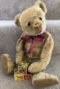 Antique Early Farnell Mohair Jointed Teddy Bear British Well Loved Needs TLC