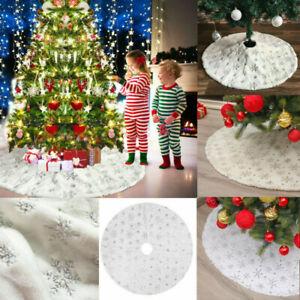 Weihnachtsbaum Decke Tannenbaum Deko Kunstfell Weiß Rund Rock Teppich Filz