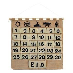 Rustic Shabby Chic Hessian Muslim Islamic Ramadan Advent Calendar