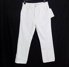 Current/Elliott The Vanessa High-Rise Crop Straight-Leg Jeans 26 White MSRP $248