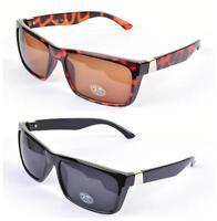 VTG 80's Square Frame Sunglasses Retro Black/Tortoiseshell Brown UV400 Mens Uni