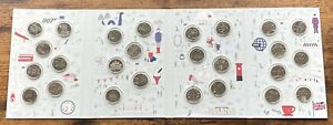 2018 Great British Coin Hunt A to Z 10p Coins In Royal Mint Album Complete