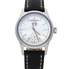 Breitling Transocean 38 Auto Steel MOP Ladies Strap Watch Date A1631012/a764