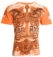 Archaic AFFLICTION Mens T-Shirt PARALLEL Cross Wings Tattoo Biker UFC M-4XL $40