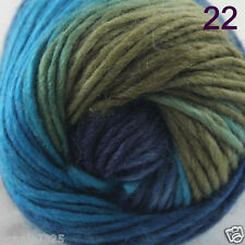 Sale 1Skein x 50gr NEW Hand Knitting Yarn Chunky Colorful Wool Scarves Shawls 22
