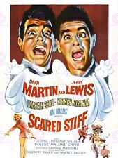 MOVIE FILM SCARED STIFF DEAN MARTIN JERRY LEWIS COMEDY POSTER ART PRINT LV10165