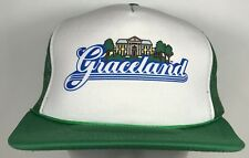Vintage Graceland Trucker Hat Elvis Presley Memphis Tennessee Green Cap Mansion