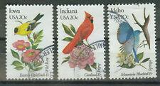 Briefmarken USA 1982 Vögel und Blumen Mi.Nr.1546+45+43