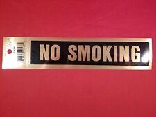 NO SMOKING Sticker Decal by Presto 09368, Gold Black 8