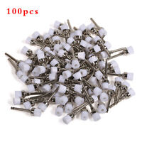 100PCS Dental New Polishing Polisher Prophy Brush Brushes Nylon Latch Flat #1 FR
