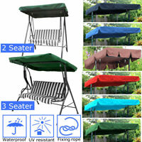 Replacement Canopy for Swing Seat Garden Hammock 2 & 3 Seater Sizes Cover US
