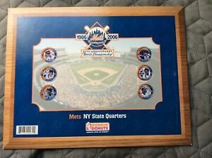 NEW YORK METS 1986 Tribute NY State Quarters Completed Set Dunkin Donuts