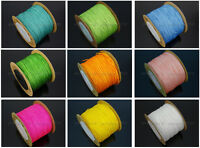 Satin Silk Braid Rattail Cord Knotting Thread Rope Beading Jewelry Design Crafts