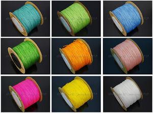 Satin Silk Braid Rattail Cord Knotting Thread Rope Beading Jewelry Design Crafts
