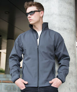 Result Core Mens Printable Softshell Jacket Water Repellent Breathable (R231M)