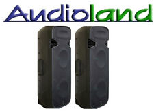 "2 x DAYTON POWERED AMPLIFIED 1600W MAX TWIN 15"" PLASTIC PA/DJ SPEAKERS BLUETOOTH"