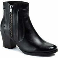 Sole Bound by Baretraps Womens Lisette Leather Round Toe Ankle, Black, Size  HiT