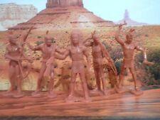 Soldatini Toy Soldiers Marx Toys Indiani plastica  Vintage Anni 70°/SB/