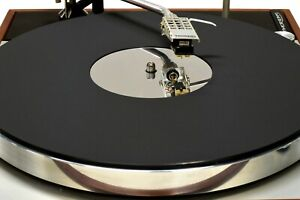 Matt Black & Mirror Acrylic Turntable Platter Mat. Fits THORENS.