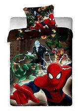 Marvel Spiderman Brown Single Duvet Cover Set 100% Cotton By BestTrend®