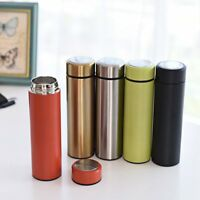 500ml Stainless Steel Insulated Cup Coffee Tea Thermos Mug Travel Vacuum Flasks