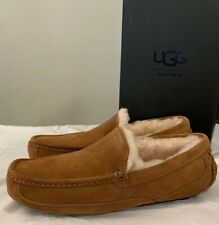 UGG ASCOT 1101110 MEN CHESTNUT SUEDE SLIPPERS * SIZE 9 100% AUTHENTIC BRAND NEW