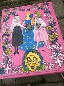 Vintage 1969 Mattel The World of Barbie Pink Doll Trunk For Her Friends