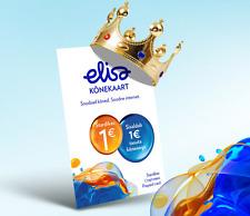 Elisa 1 EUR prepaid SIM card, worldwide, EU +372 mobile phone number