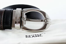 MontBlanc 106148 Men's Belt Classic Collection Cowhide Leather Free FedEx Ems