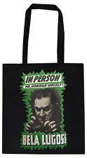 BLACK COTTON TOTE BAG BELA LUGOSI MR HORROR GOTH VAMPIRE B-MOVIE DRACULA GOTHIC
