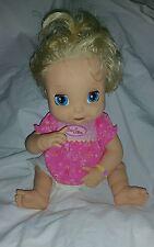 2006 Hasbro Baby Alive SOFT FACE TALKING BLONDE Doll English SHIRT DIAPER