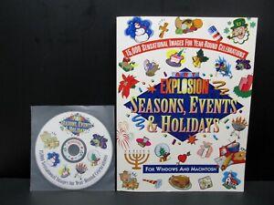 ART EXPLOSION Seasons, Events & Holidays, Windows & Mac, Nova, 1998, NEVER USED