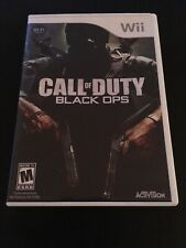 Call of Duty: Black Ops (Nintendo Wii, 2010) CASE & MANUAL No DISC