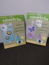 Set of 2 Dimensions Needlecrafts Feltworks Embroidery, Flower Camera Case