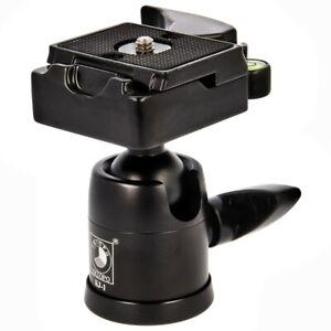 TRIOPO KJ-1 Stativkopf mit Wechselplatte & Wasserwaage trägt bis 6 kg 1/4 + 3/8