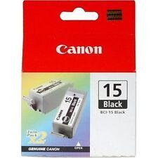 2 original Cartouches Noir TwinPack CANON BCI-15 PIXMA IP90,95,96 / I60,70,80